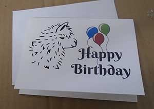 alpaca birthday cards
