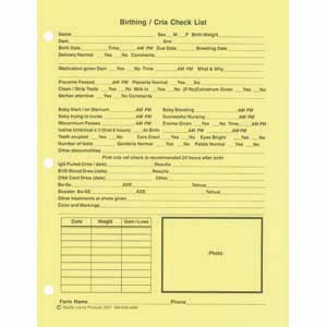 Birthing Record Forms