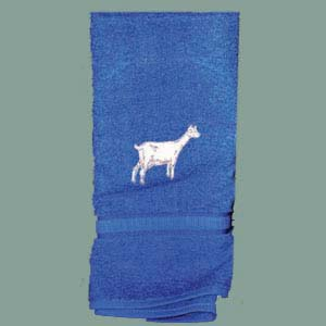 Embroidered Towel Goat
