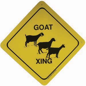 Goat Xing Sign