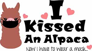kissed alpaca mask tee
