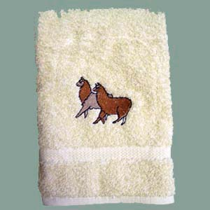 Embroidered Towel Llama