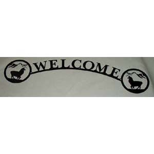 Welcome Sign Llama Arch