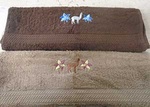 Embroidered Towel Alpaca