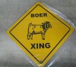 boer goat xing sign