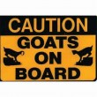 Goat Caution Sticker