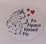 Sticker Alpaca Kissed Me 10 Pk