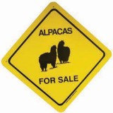 Sign Alpacas For Sale