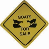 Sign Goats For Sale