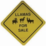 Sign Llama For Sale
