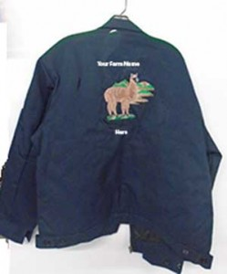 embroidered farm jacket