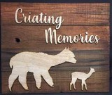 wood / resin signs alpaca